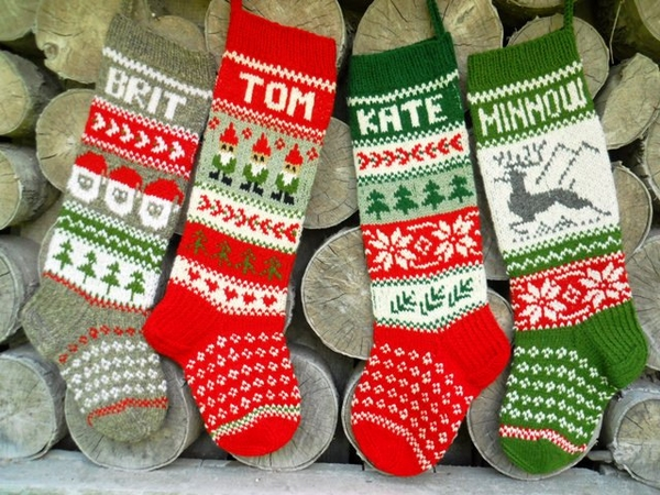 DIY knitted -personalised-christmas-stockings-ideas-Christmas-gifts