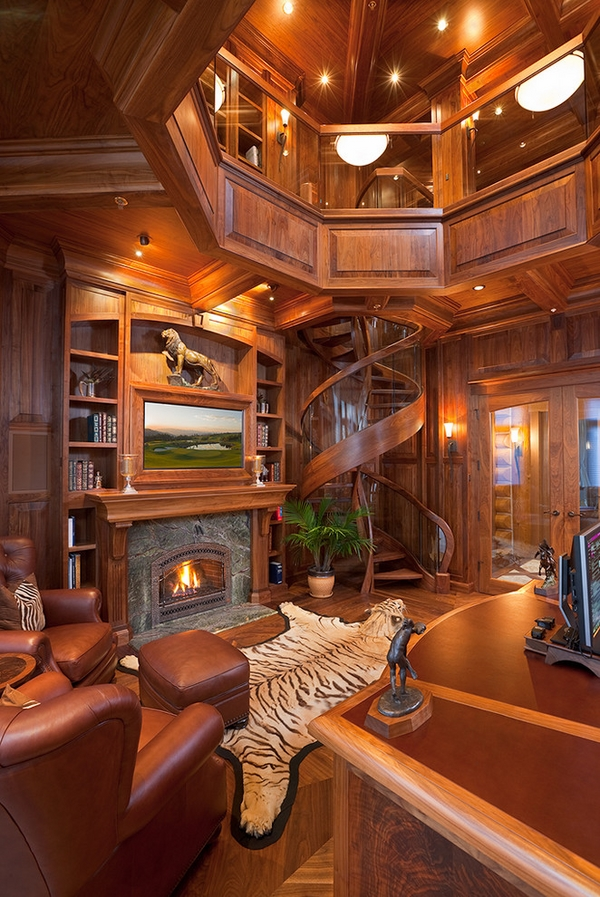 spectacular spiral staircase wood glass railings