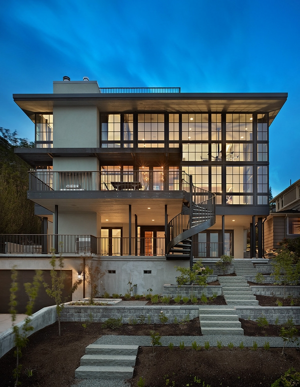 outdoor modern house architecture exterior