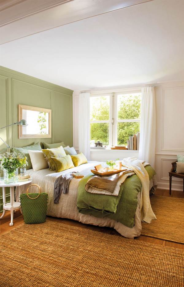 green accent wall ideas positive colors for bedrooms