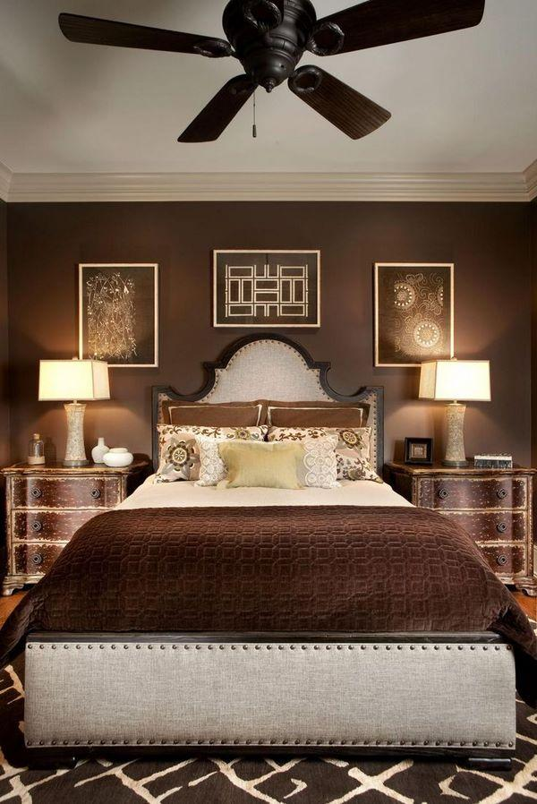 brown and cream color scheme for bedroom relaxing atmosphere