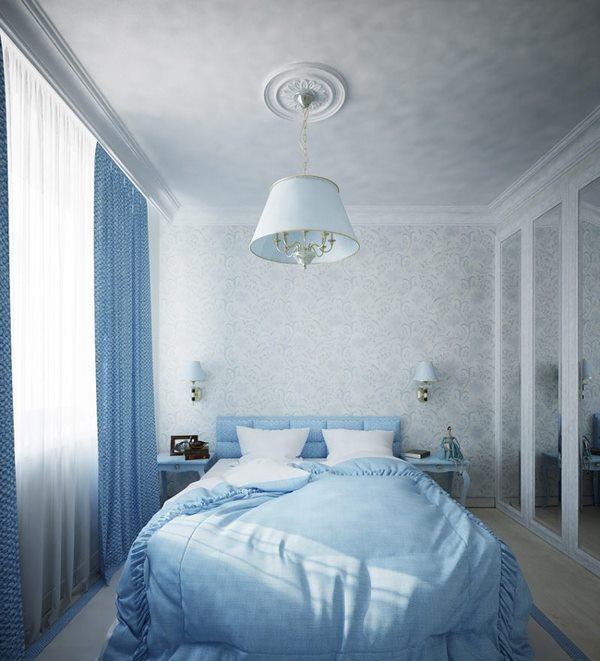 natural colors blue white small bedroom decorating ideas