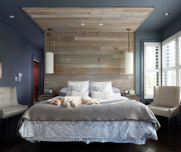 positive colors for bedroom blue walls shiplap accent wall
