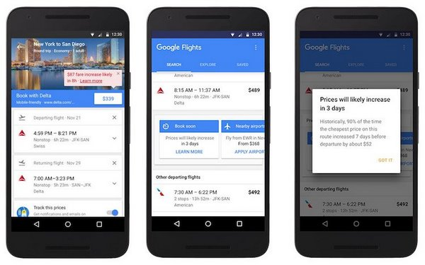 buy plane ticket and find a hotel via google flights