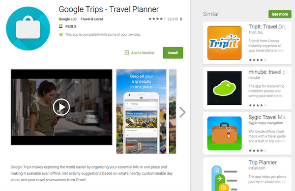 find a hotel and plan your vacation with google applications