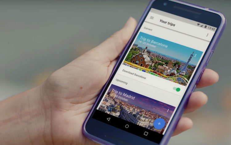 find a cheap hotel google trips for android