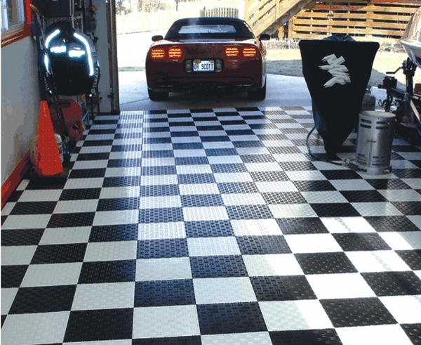 best garage floor ideas motofloor black white
