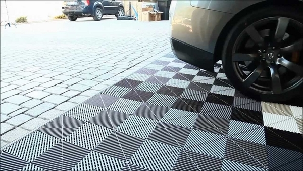 modular garage flooring tiles ideas