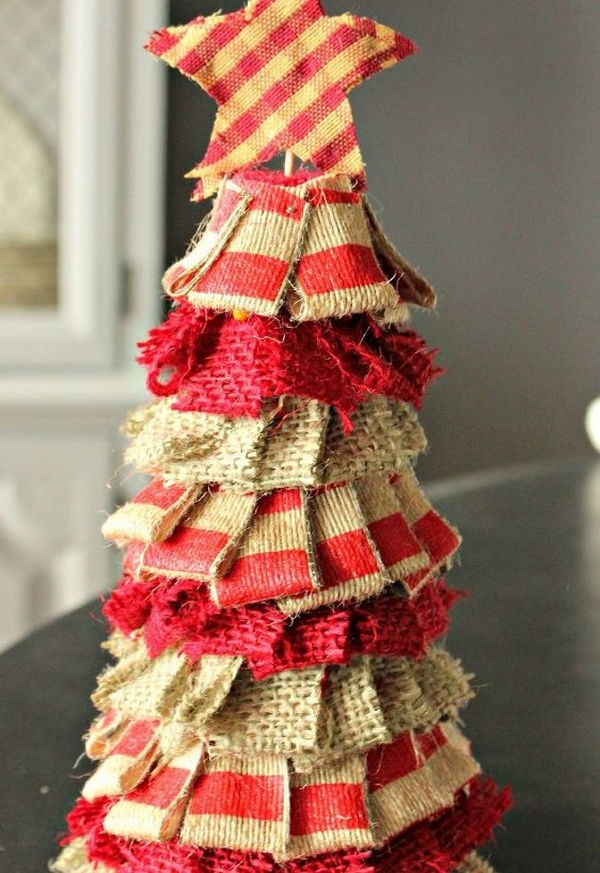 rustic burlap christmas tree christmas decorations crafts diy holiday decor ideas