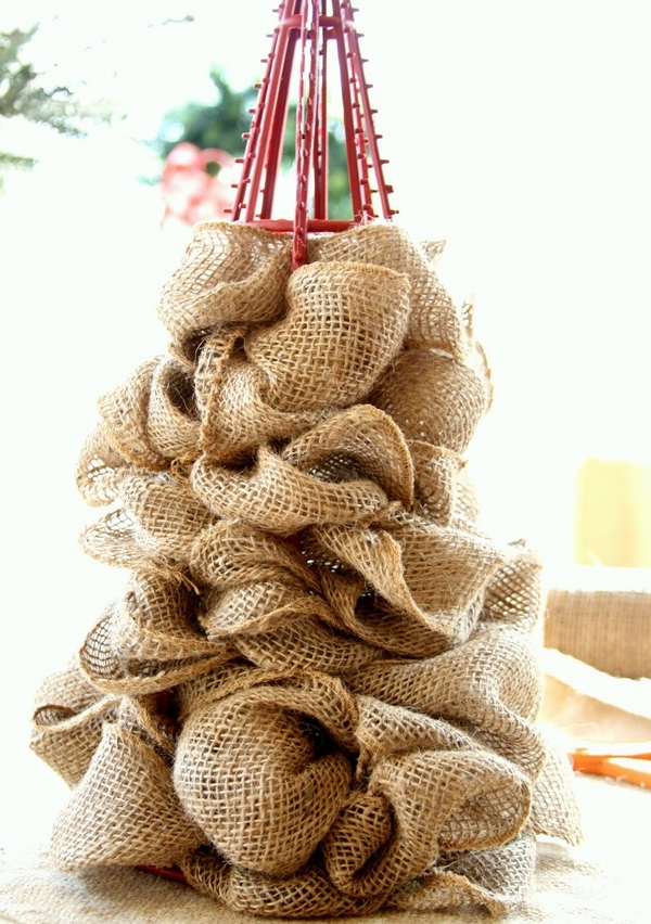 diy tree burlap ornaments ideas table decor