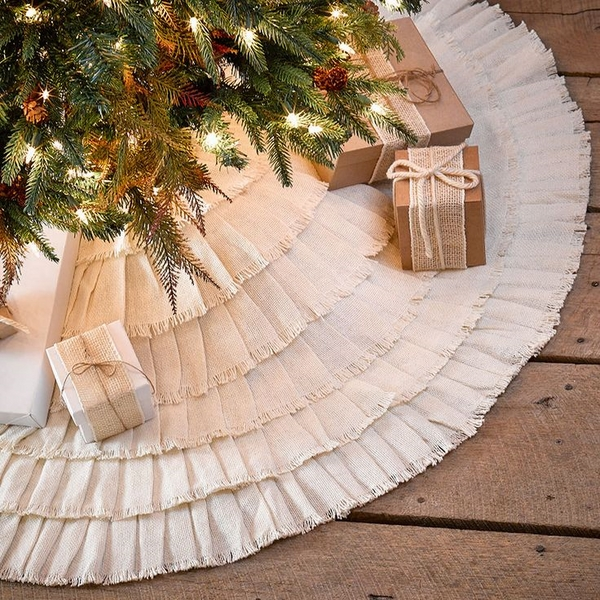 tree skirt ideas ruffled tree skirt diy