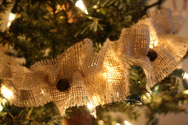 burlap christmas tree ideas burlap ornaments burlap garland