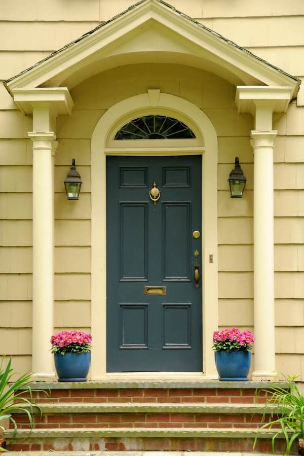 front door paint colors flower pots