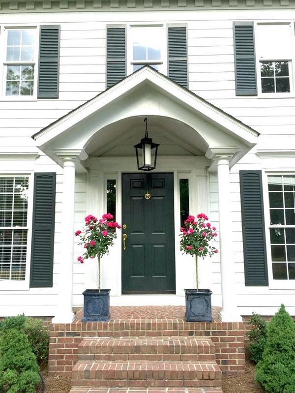 front door design DIY house curb appeal projects