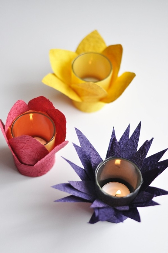 Candles decorating with children