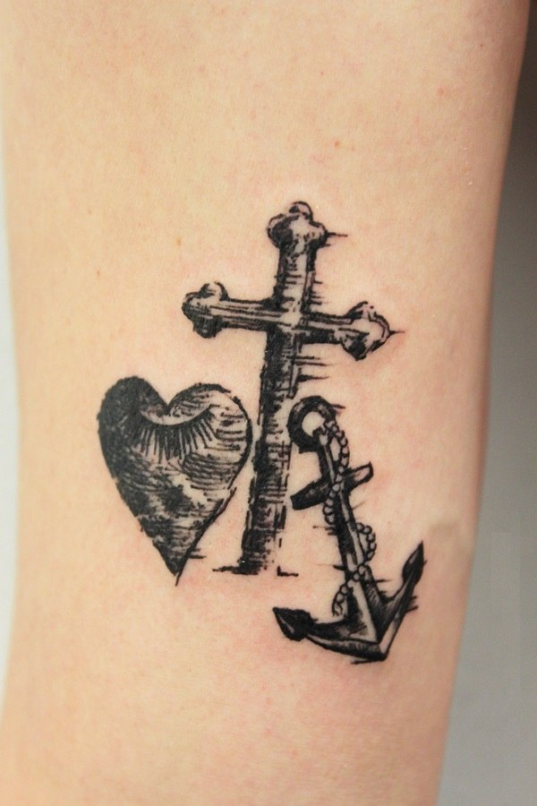tattoo design ideas heart cross anchor meaning