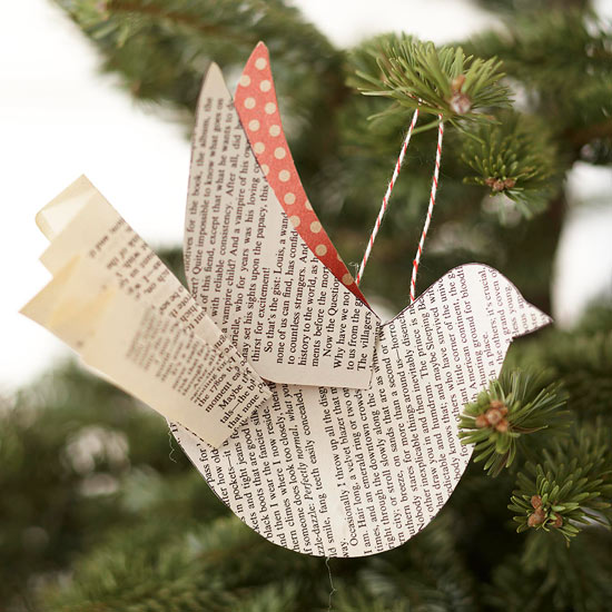 easy to make paper bird tree ornament