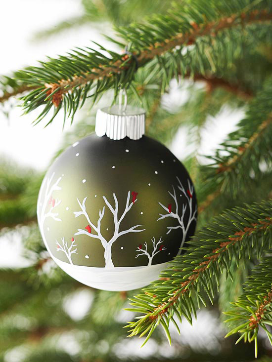 homemade painted ornament