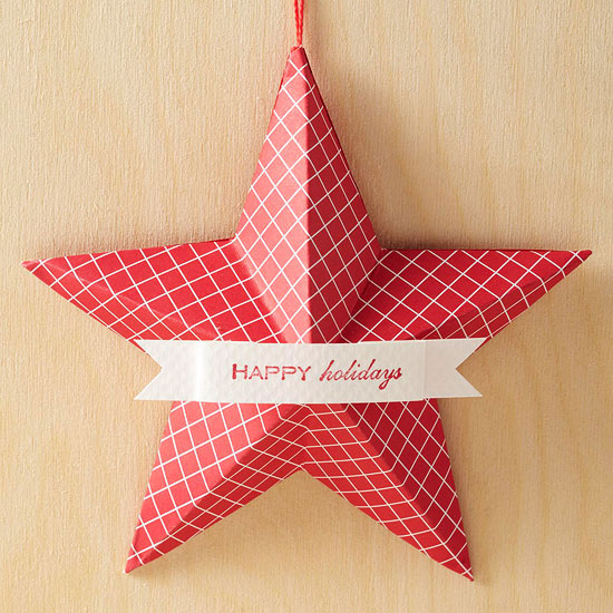 a red star ornament
