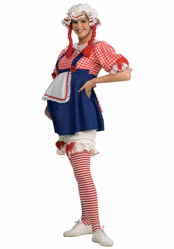 pregnant halloween costumes ideas rag doll costume