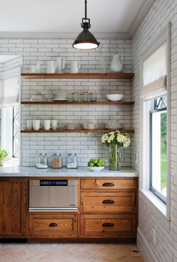 Rustic kitchen design wall wood wall tiles