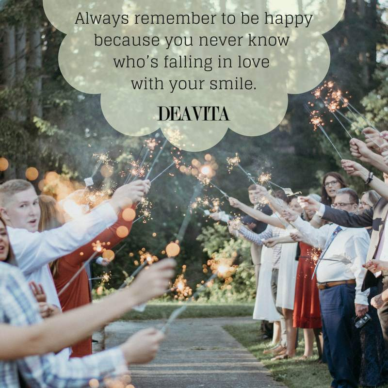 be happy smile fall in love quotes with cards