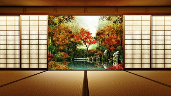 japanese home design ideas bamboo wood shoji sliding door