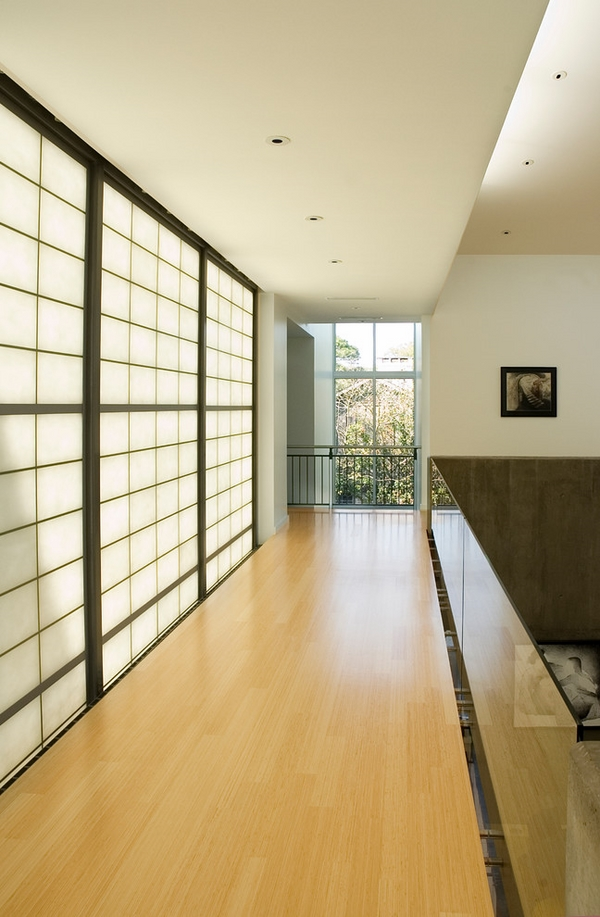 modern hall Japanese style doors