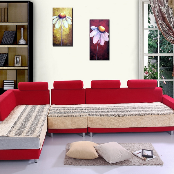 Plush sectional covers red sofa neutral color covers