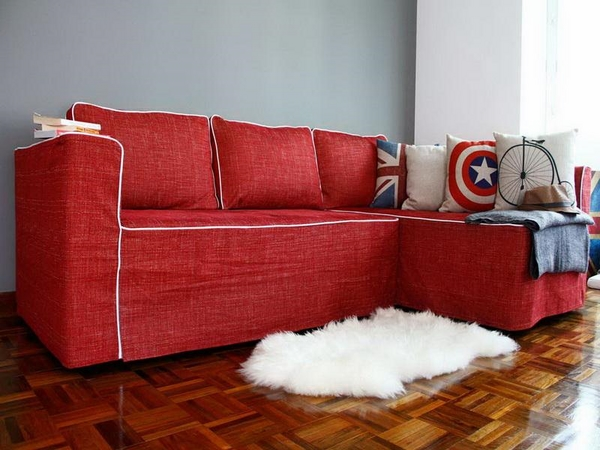Attracitve covers Ikea red modern home decorating ideas