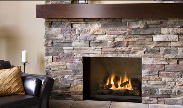 Stone fireplaces natural stone decorating facing