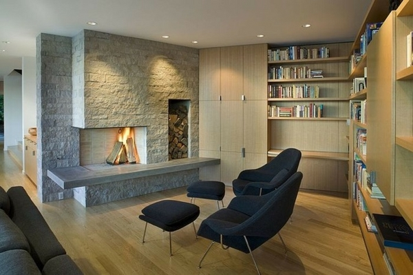 beautiful stone fireplaces contemporary living room interior wood burning fireplace
