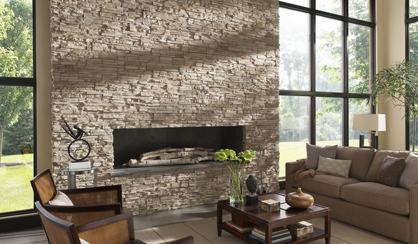 Awesome stone fireplaces design ideas contemporary living room