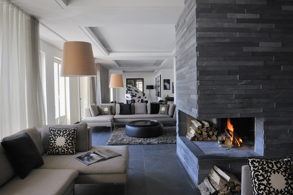 Modern stone fireplaces home designs decor ideas