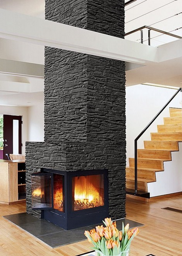 amazing stone fireplaces modern home design ideas