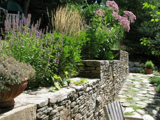 wall in the garden