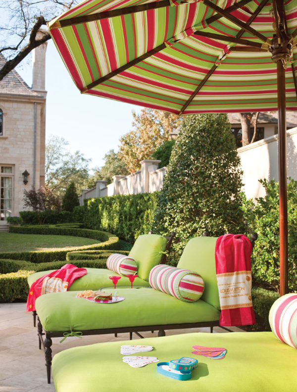 Colorful decorative pillows pale green outdoor cushions daybeds