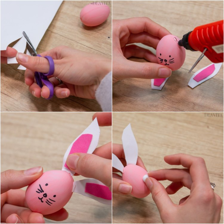 How to make bunny and chick Easter egg garland tutorial step by step