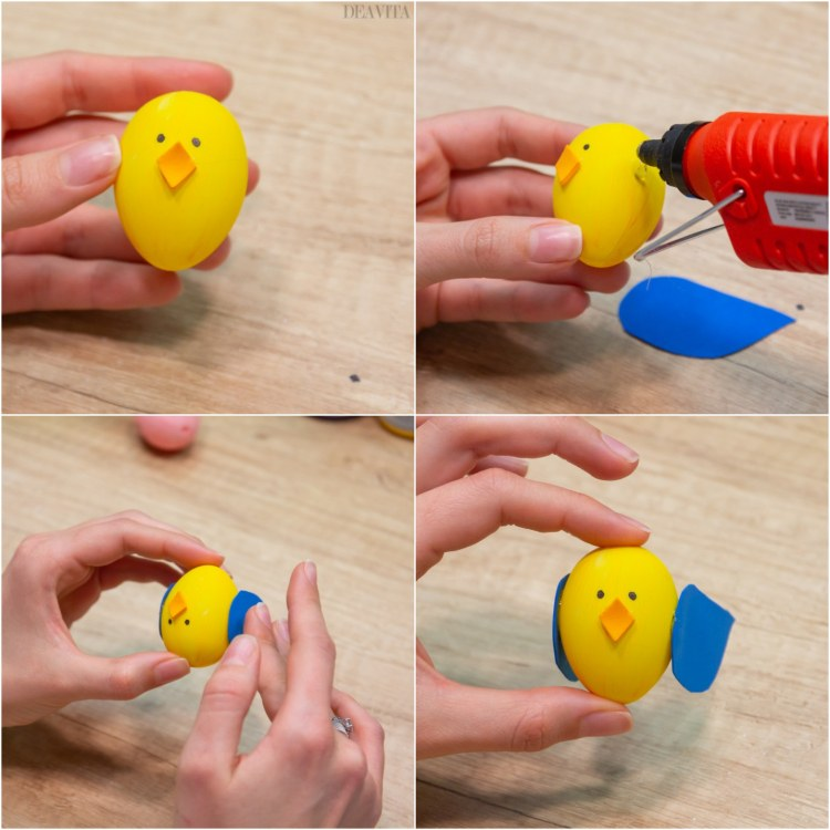 How to make bunny and chick Easter egg garland instructions