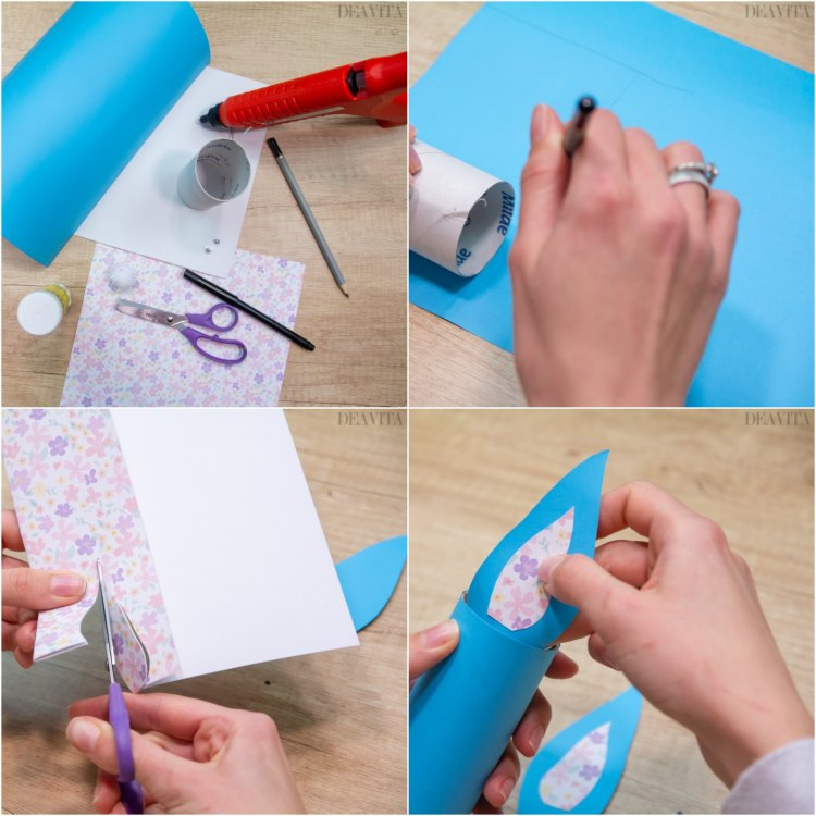 DIY Easter decorations toilet paper roll bunny tutorial