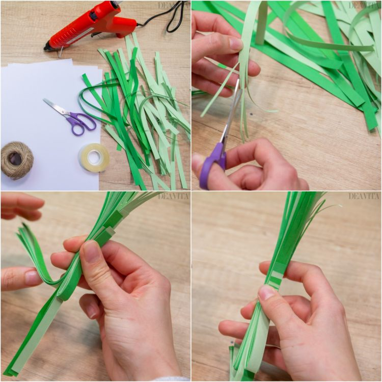 DIY Easter decorations twine carrot tutorial