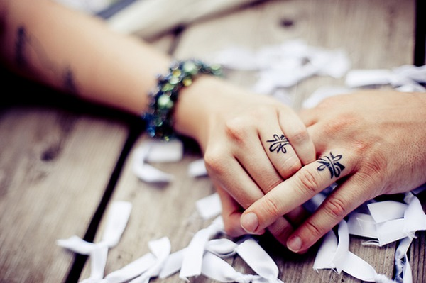 wedding tattoos designs for couples matching finger tattoo