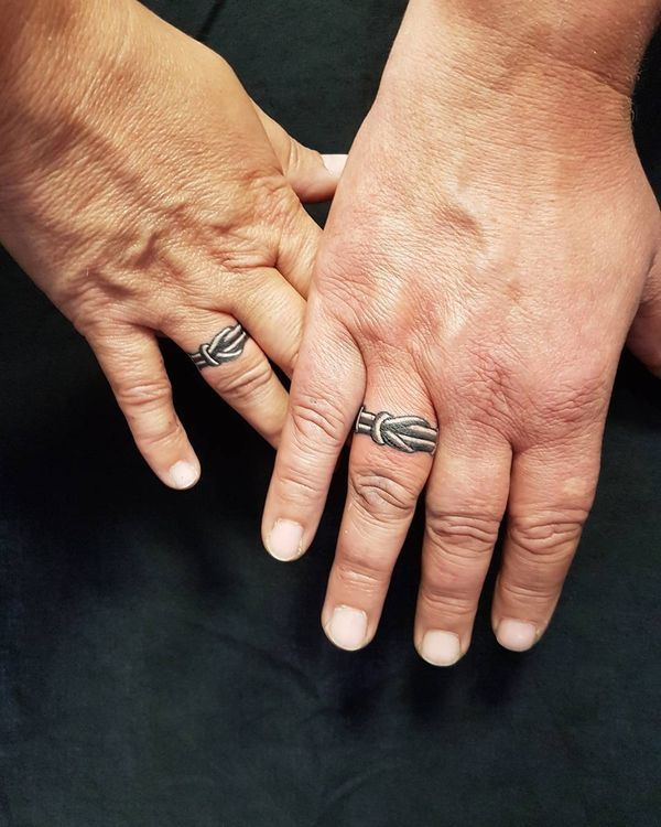 wedding ring tattoos for couples creative design ideas