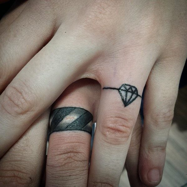 unique wedding ring tattoo ideas for men and women