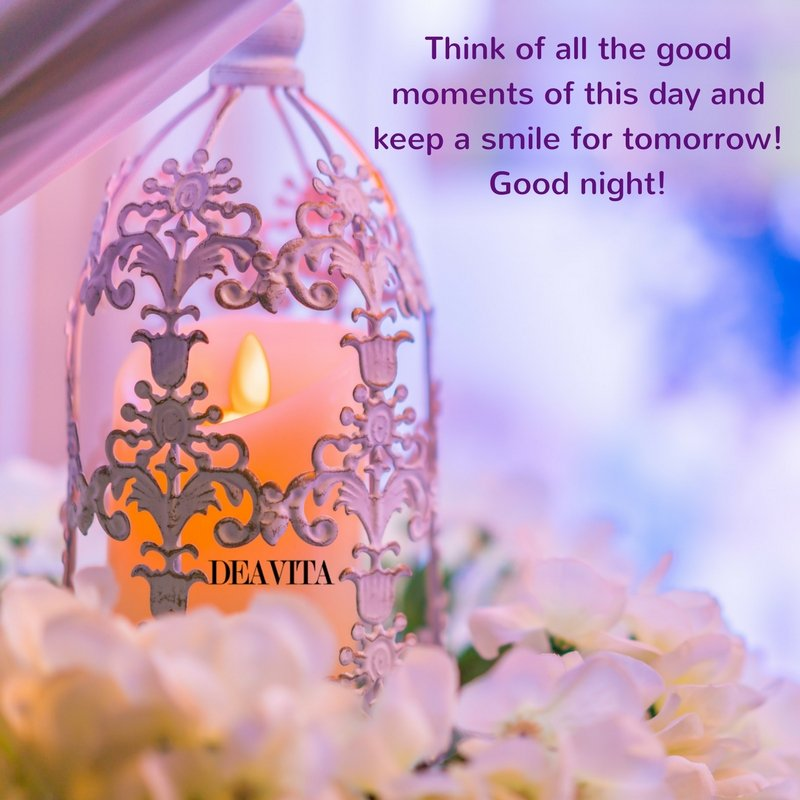 texts and quotes for good night Think of all the moments of this day