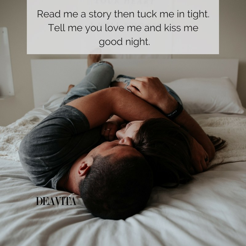 small good night poems Read me a story then tuck me in tight
