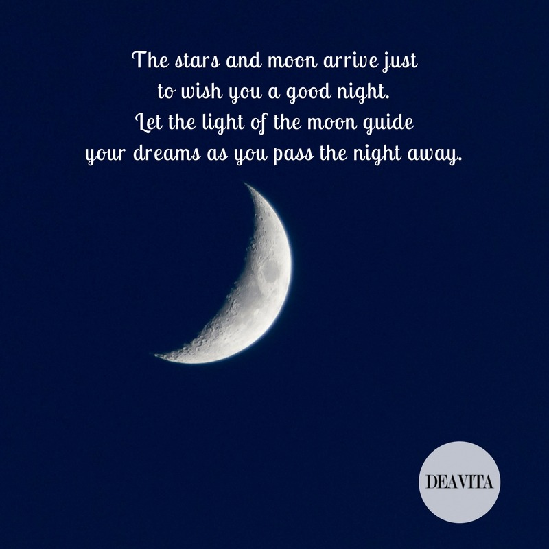 loving goodnight wishes The stars and moon arrive