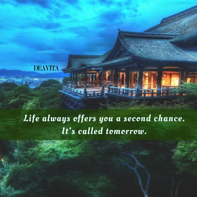 inspirational quotes goodnight wishes Life always offers you a second chance