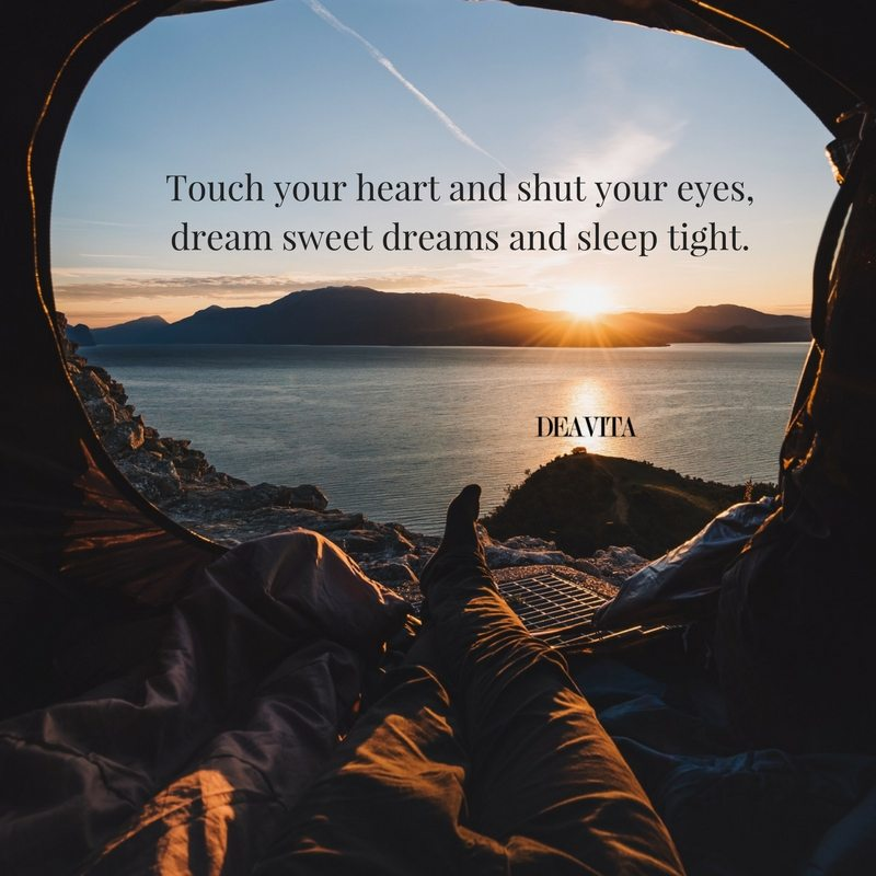 goodnight poems Touch your heart and shut your eyes