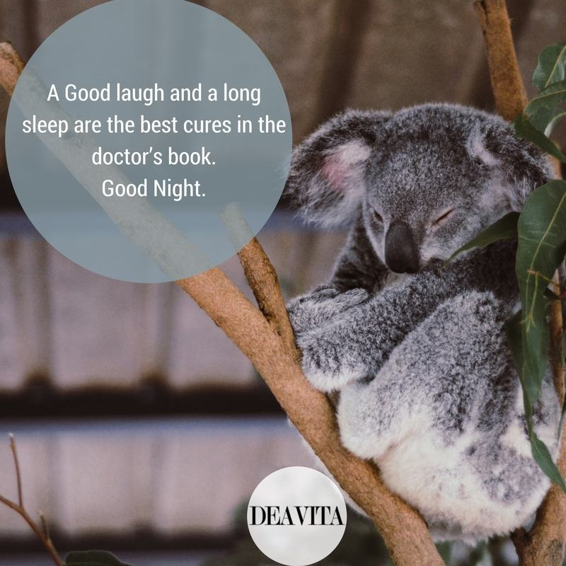 cute good night quotes A Good laugh and a long sleep